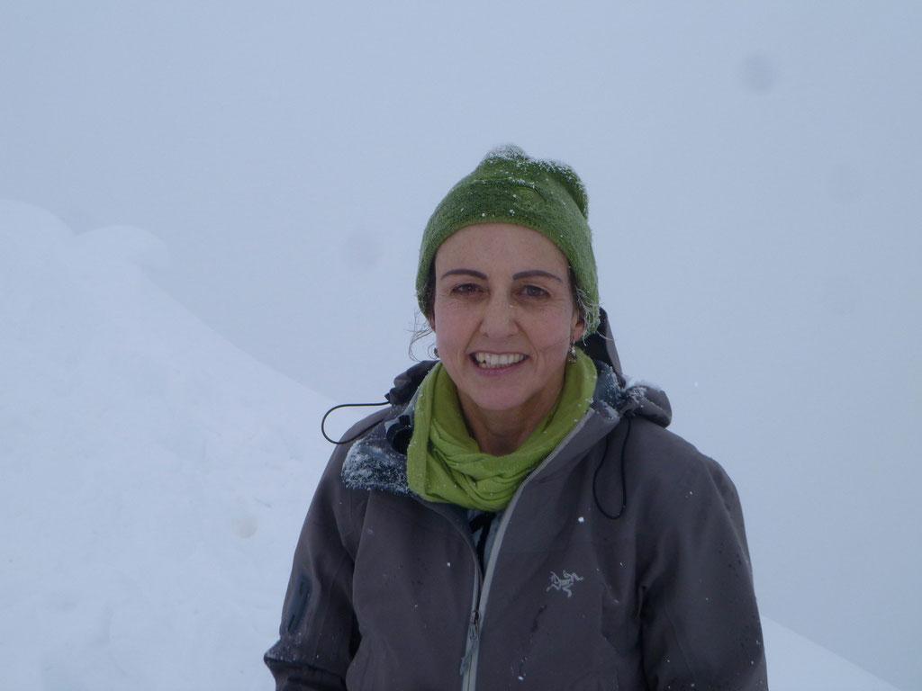Denise Sigg auf dem Roggenstock