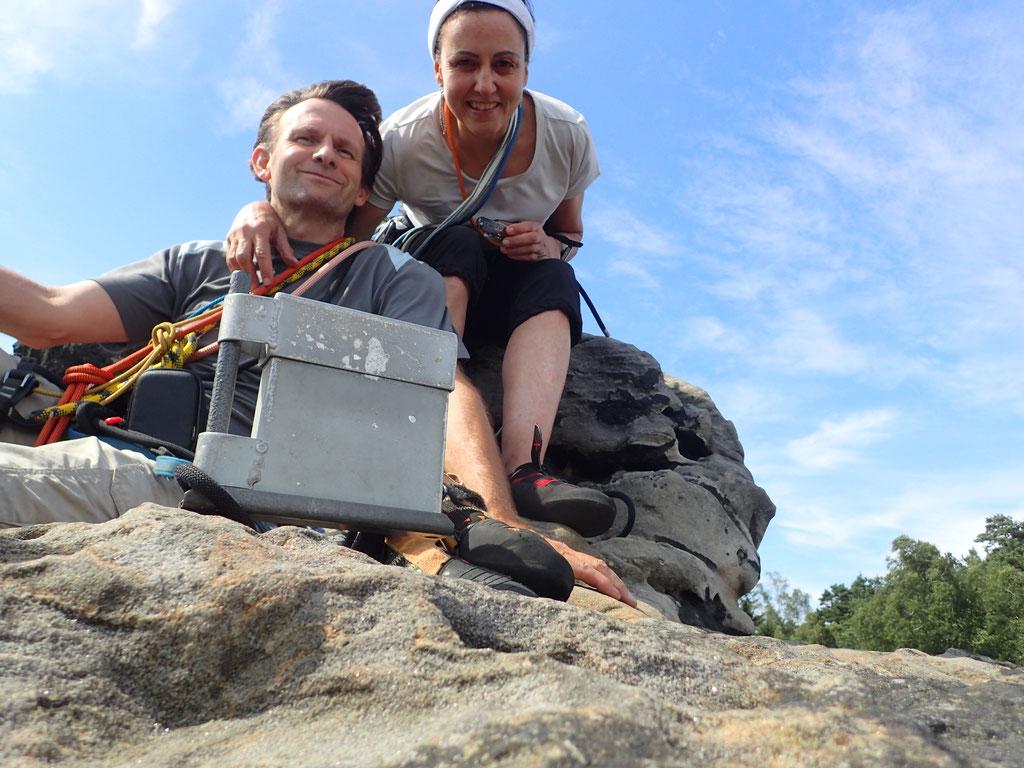 Denise Sigg und Daniel Fritschi in der Sächsischen Schweiz