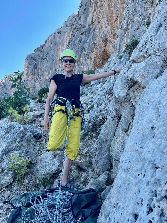 Denise Sigg im Sektor Poets auf Kalymnos