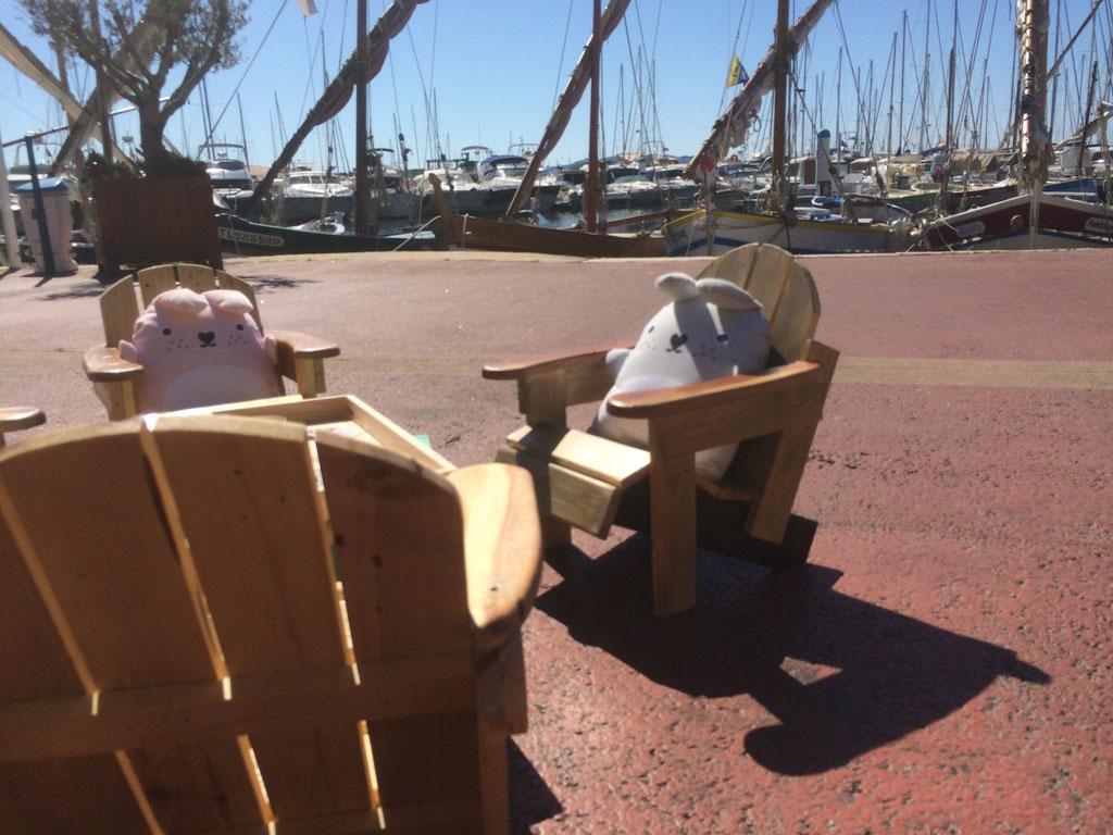 Petit salon sur le port de Bandol