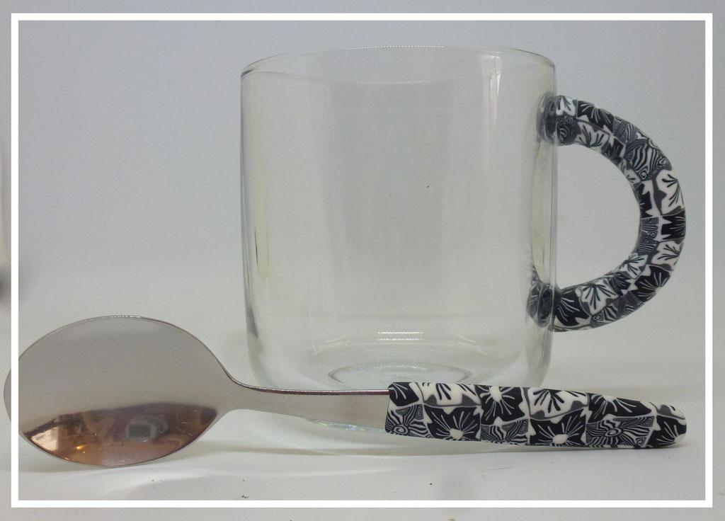 Tasse à café en verre des Créas d'Emma