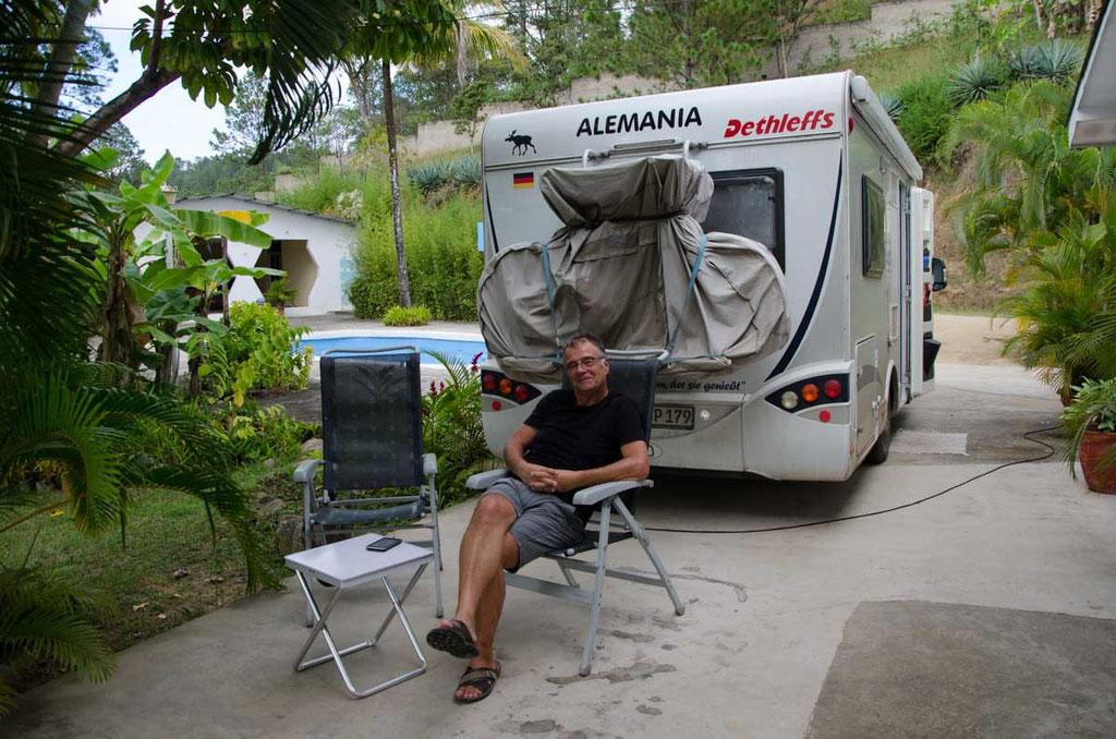 Übernachtungsplatz bei netter Familie in Danli