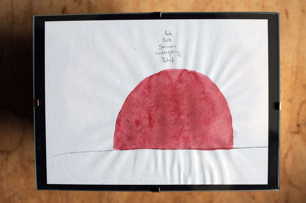 Rote Beete Sonnenuntergang - Tschüß