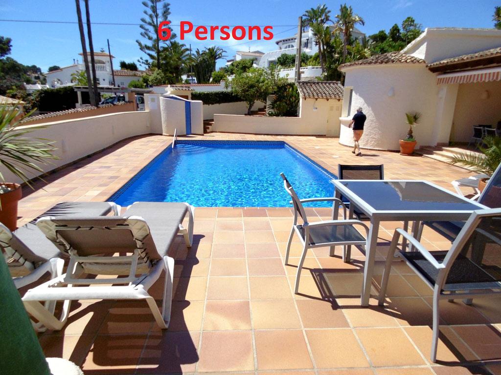 Beautiful 6 person villa in Moraira