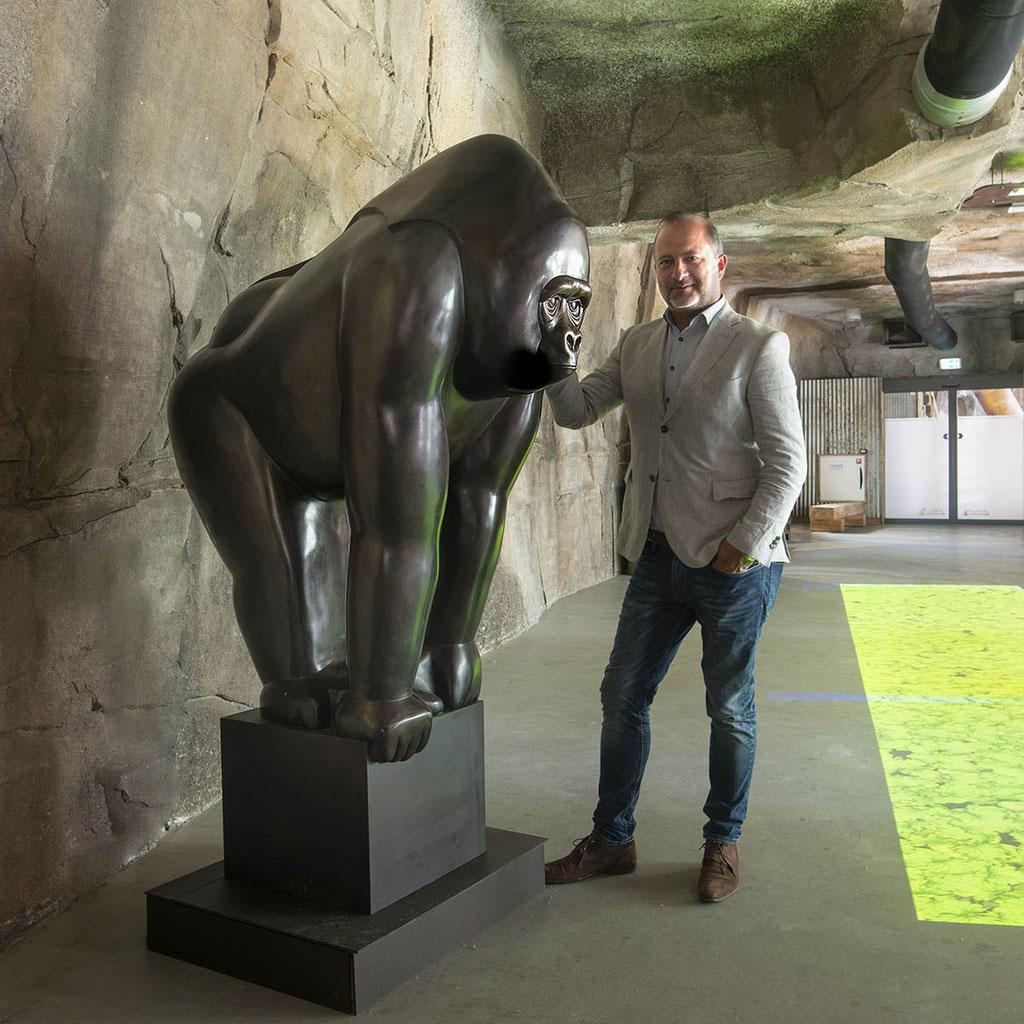 Gorilla in brons