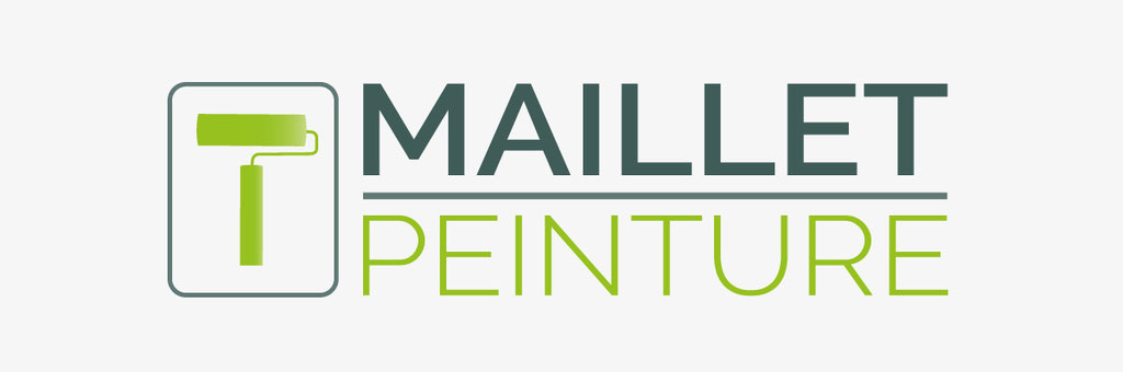 Réalisation d'un logo pour une société de travaux de peinture et vitrerie - Maillet Peinture