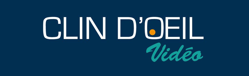 Réalisation d'un logo pour une entreprise de reportages et montages vidéos en Lot et Garonne - Clin d'oeil vidéo