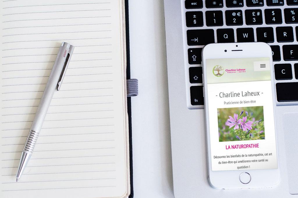 Site responsive (Téléphone portable)- Charline Laheux