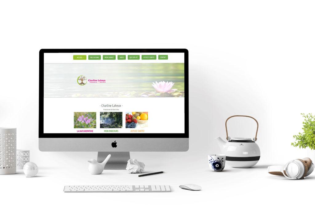 Réalisation d'un site web pour une naturopathe - Charline Laheux