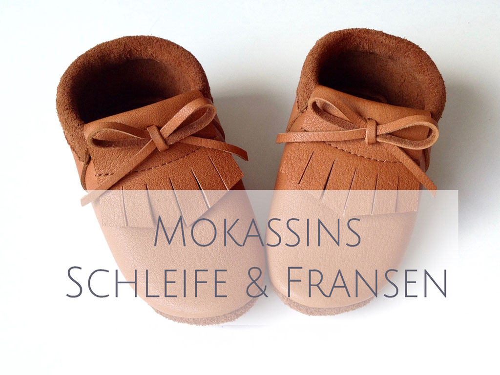 Mokassins mit Schleife & Fransen