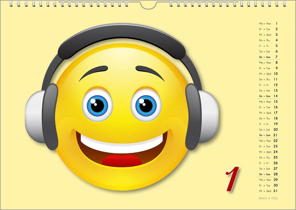Der Emoji-Kalender: Musikkalender für Erwachsene ... Musikkalender für Kinder.