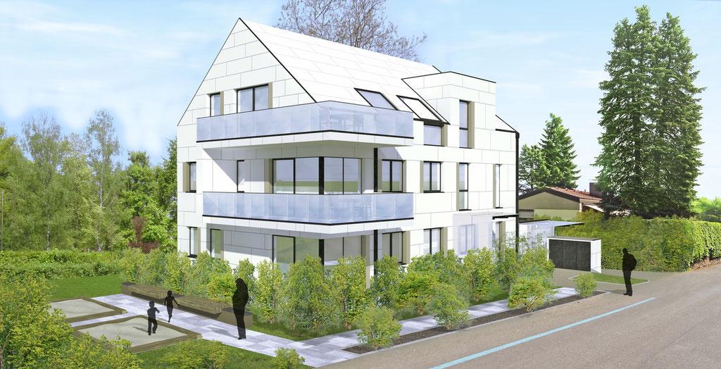 Wohnbau Linz mit 4 Wohnungen