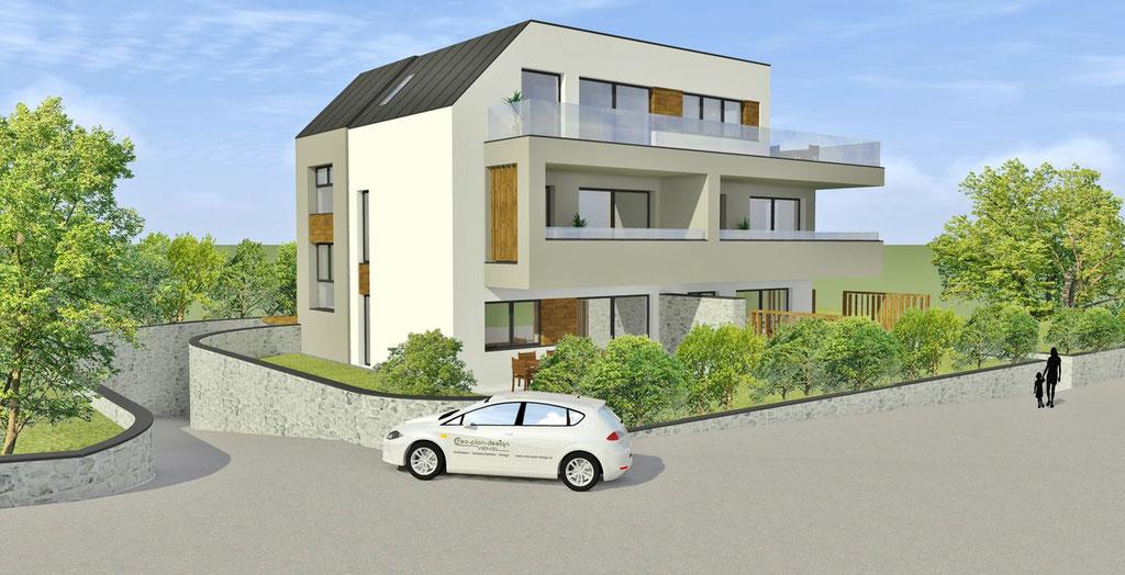 Wohnbau Linz mit 5 Wohnungen