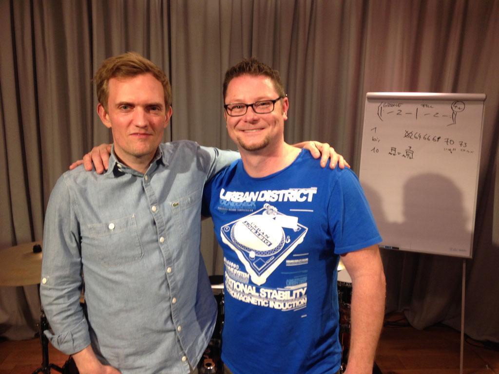 Jost Nickel und ich beim Workshop im Online Lesson Studio