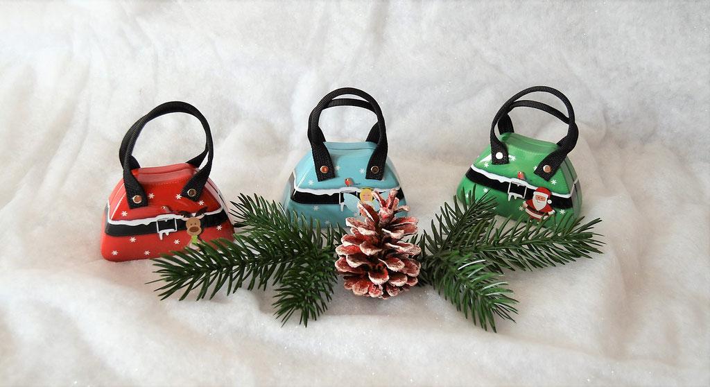Handtaschendose Weihnachten hellblau