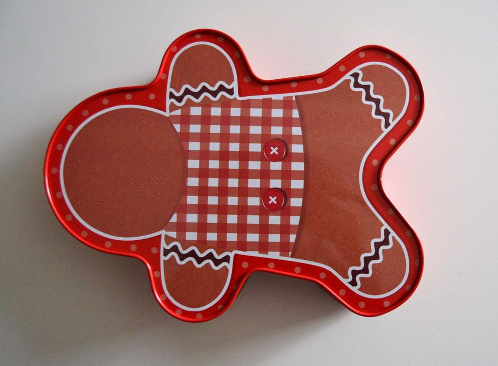 Weihnachtsdose Lebkuchenmann, Rückseite