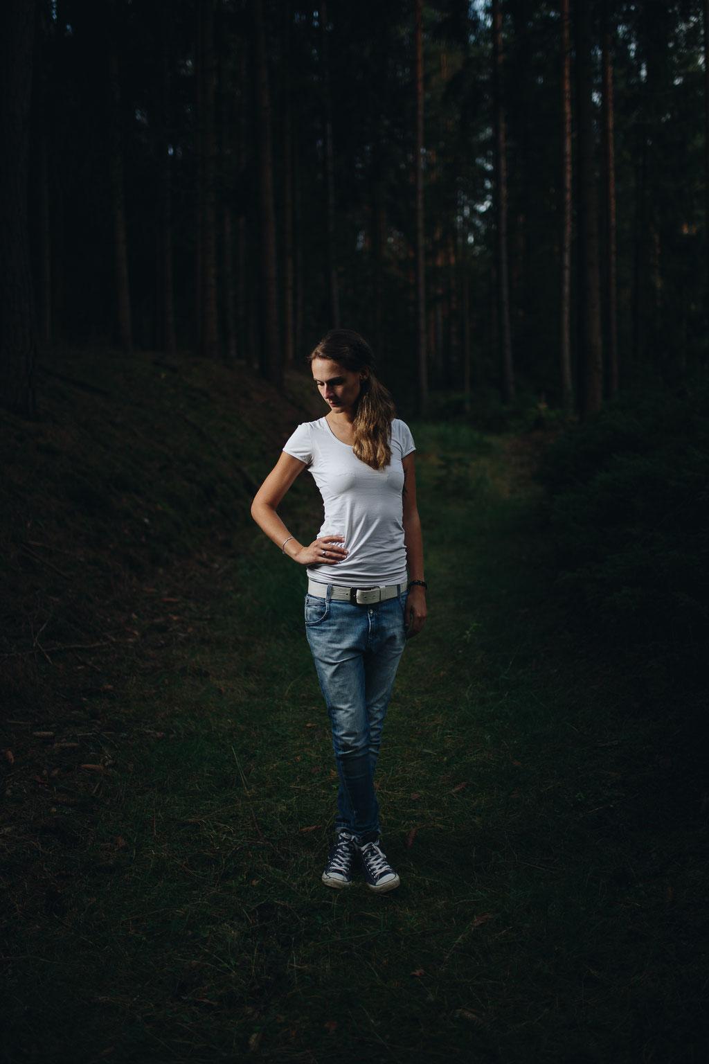 Porträt, Frau, Outdoor