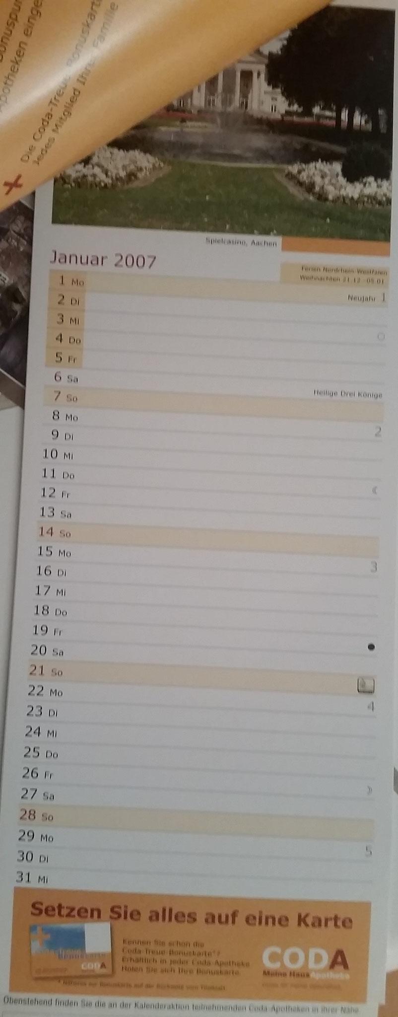 Coda Individualkalender 2