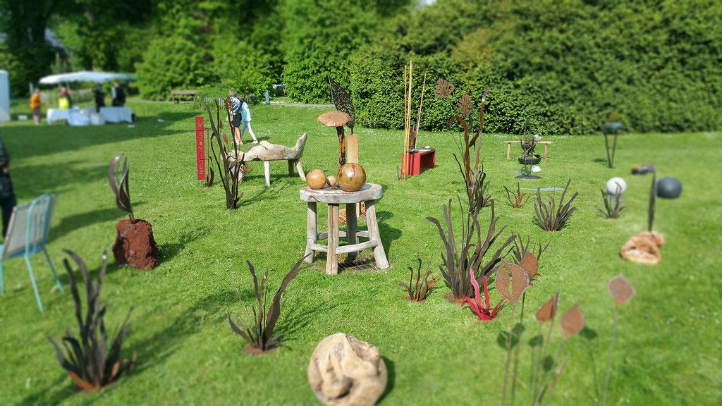 Nadine Ledru exposition sculpture Art & Jardin - château de Gromesnil, Saint Romain de Colbosc