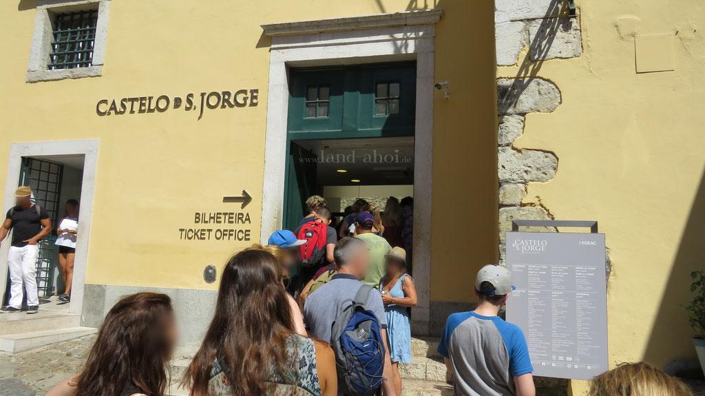 Lissabon Castelo de São Jorge Kasse