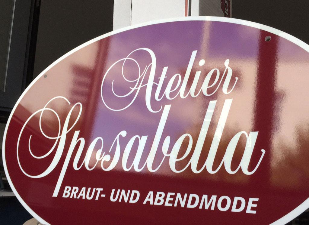 Acrylglasschild / Ausleger, Werbetechnik, Schilder, Beschriftung