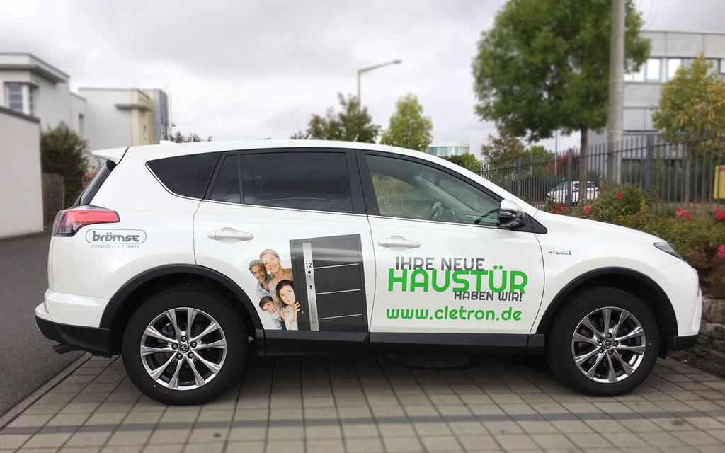 Beschriftung Firmenfahrzeug, Fahrzeugbeschriftung, Werbetechnik