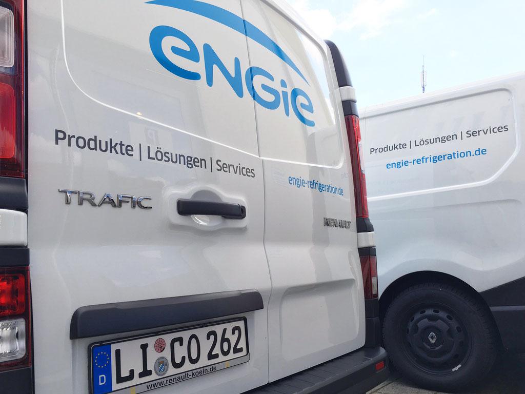 CI-Beschriftung Fahrzeugflotte Engie Deutschland, Fahrzeugbeklebung, Fahrzeugbeschriftung, Folienbeklebung, Folienbeschriftung,