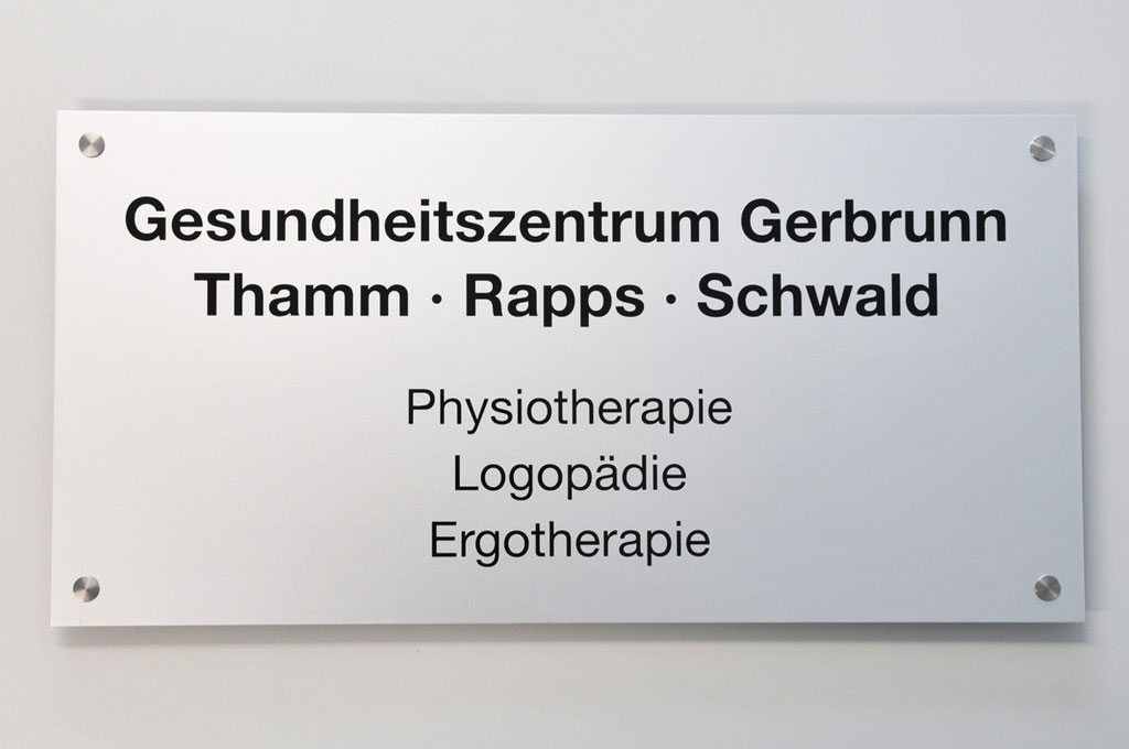 Praxisschild / Firmenschild, Werbetechnik