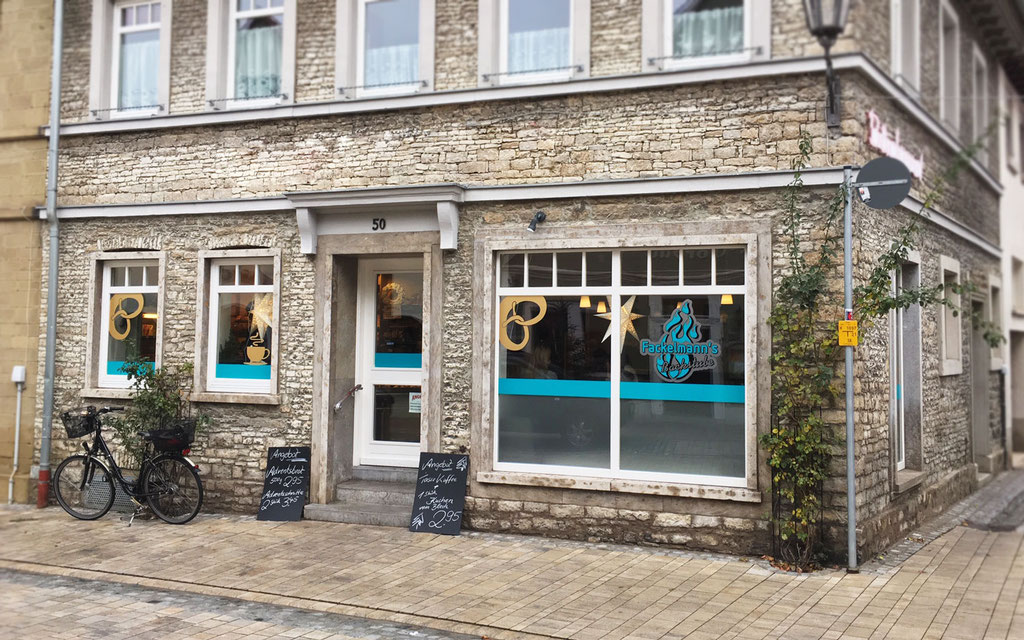 Bäckereifiliale Fensterbeklebung, Fensterbeschriftung mit Plotfolien