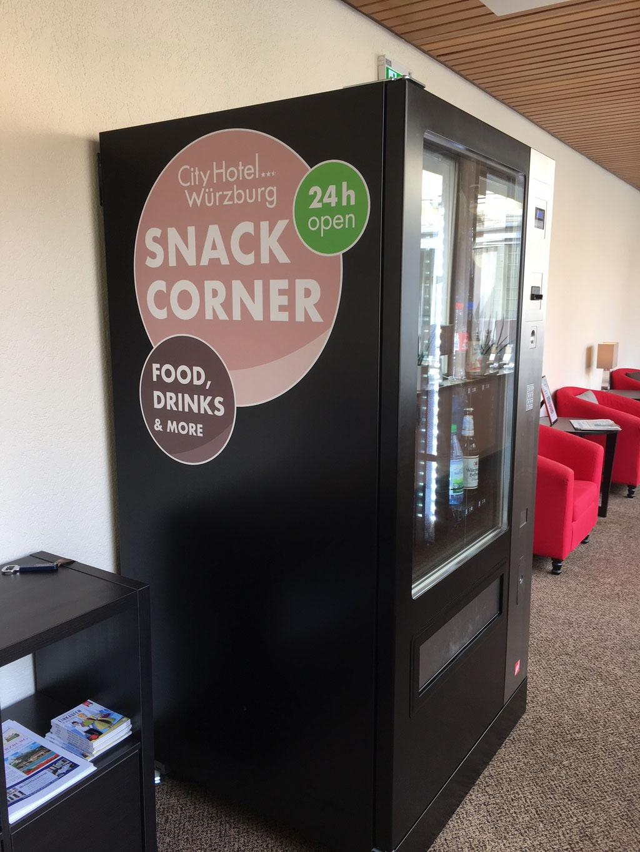 Digital-Foliendruck, Automatenbeklebung, Snack-Corner, Werbetechnik