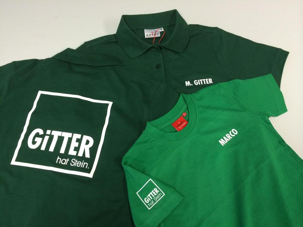 HAKRO T-Shirt Performance #281; 210 - Beflockung - Poloshirt Performance #816, Fa. Gitter, Gerlachsheim