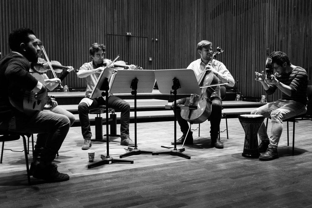 Proben mit syrischen Musikern NDR Hannover 2018