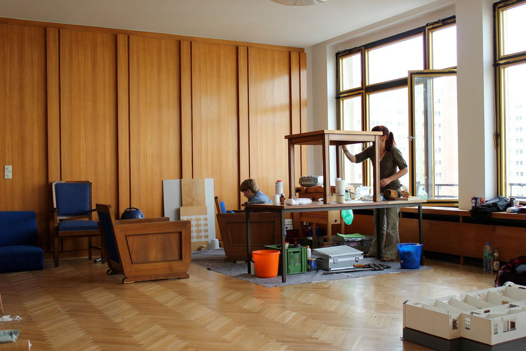 Restaurierungsarbeiten an verschiedenen Objekten | Foto: A. Fehse, 2012