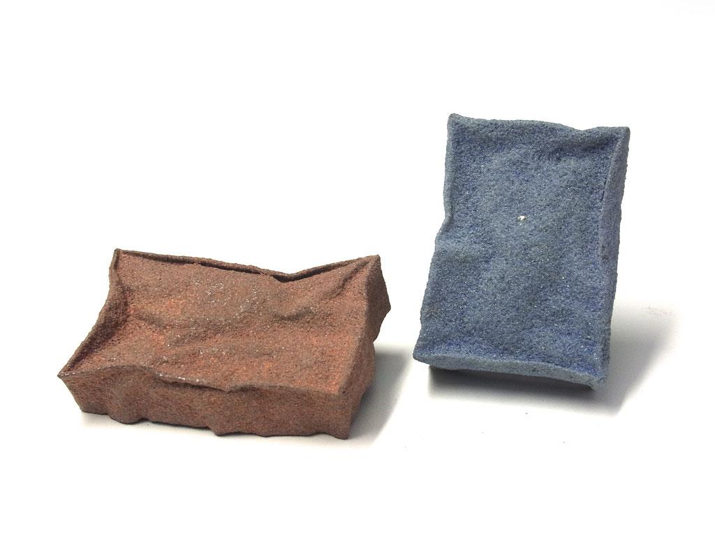 """Broschen Serie """"Vibration"""" Emaille/Kupfer/Silber/Stahl"""