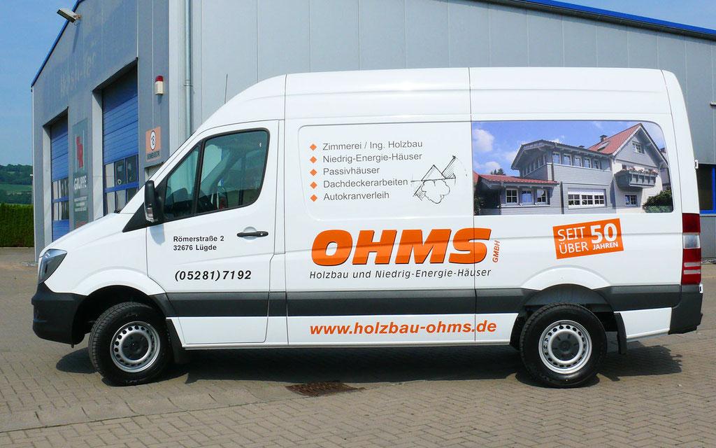 Ohms - Fahrzeugbeschriftung