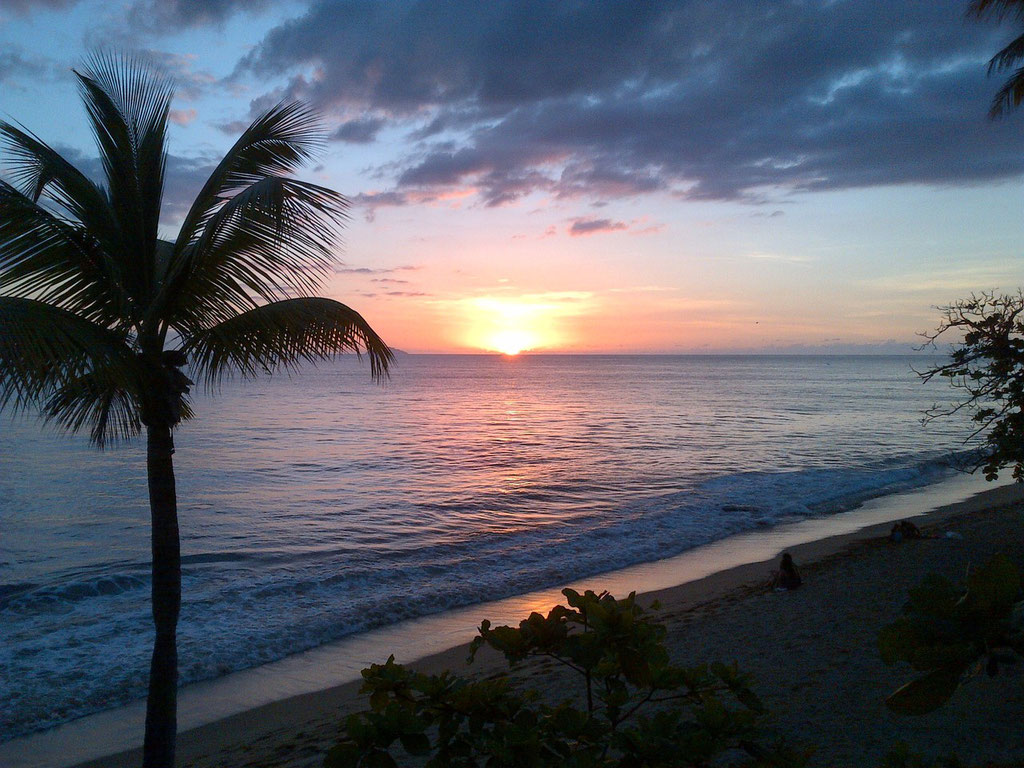 Sunset on Rincon's South Caribbean Coast
