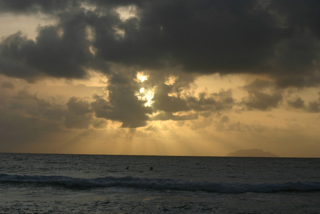 Sunset at Marias Beach in Rincon