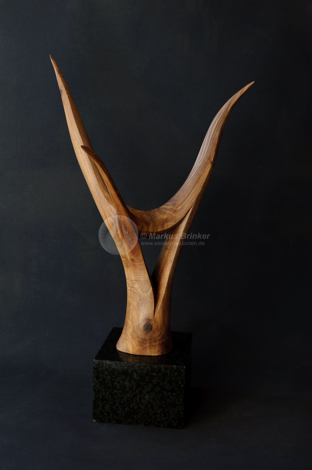 Druidenkopf, Walnussholz geölt, 58 cm