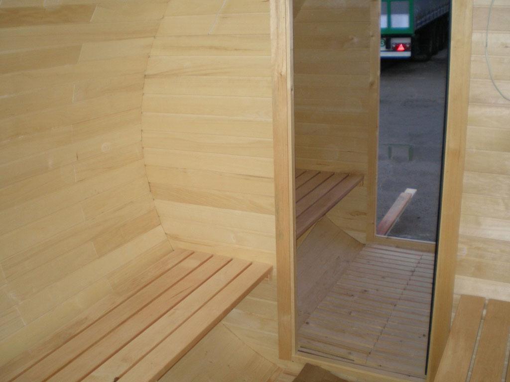 imagen de la pre sauna desde la sauna.