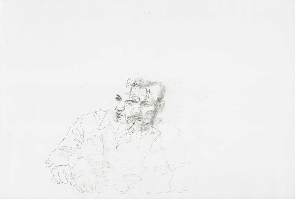 Fragment, Kopiertechnik auf Papier, 2015, Damaris Rohner