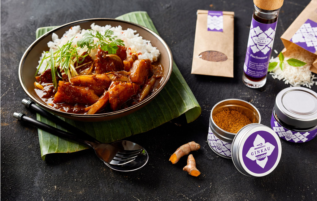 Foodfotografie Gaeng Hunglay thailändische Küche