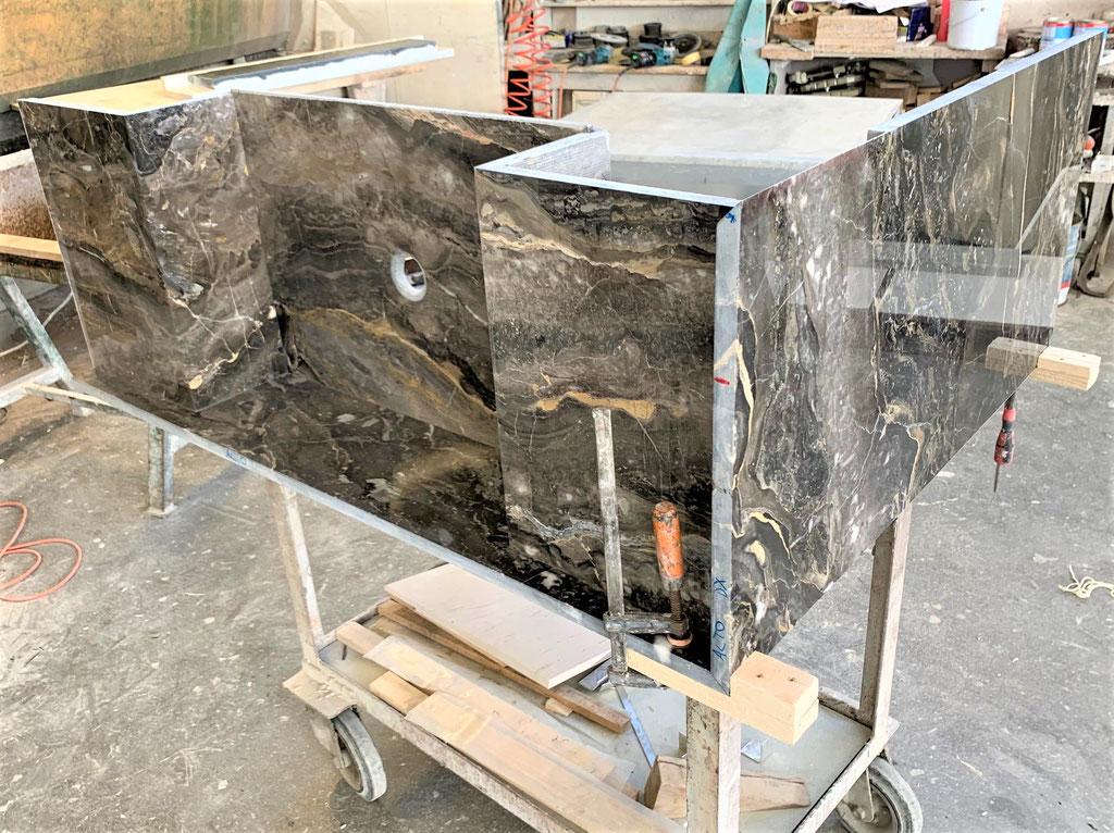 Marble basin: work in progress