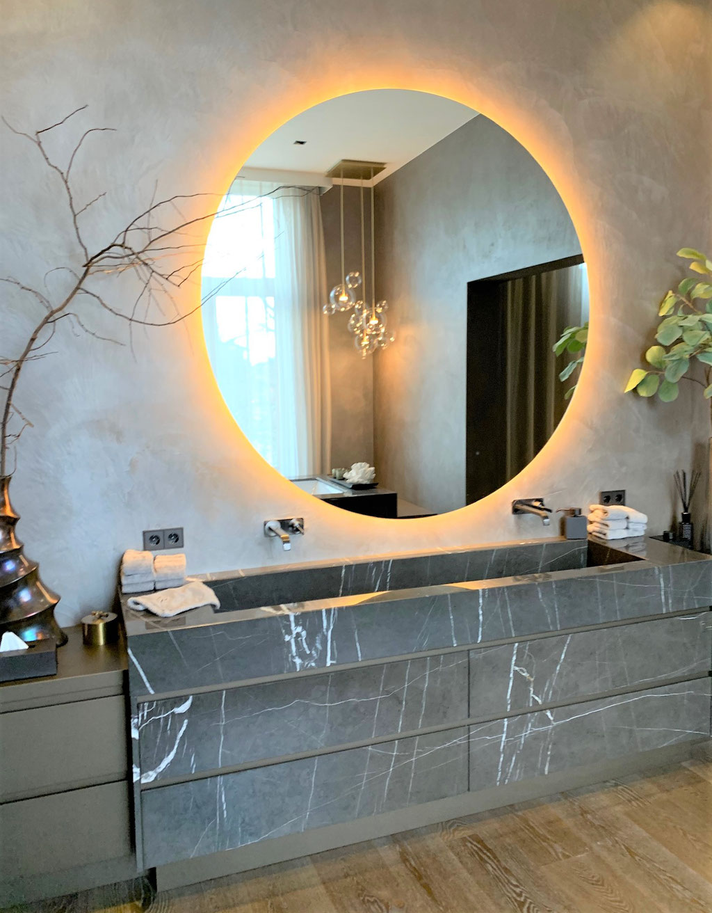 Grafite marble basin