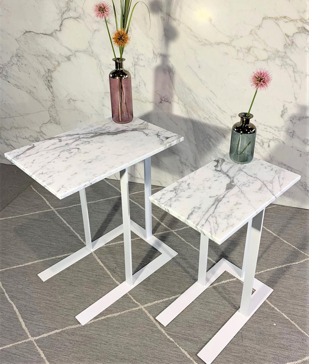 Calacatta marble side table