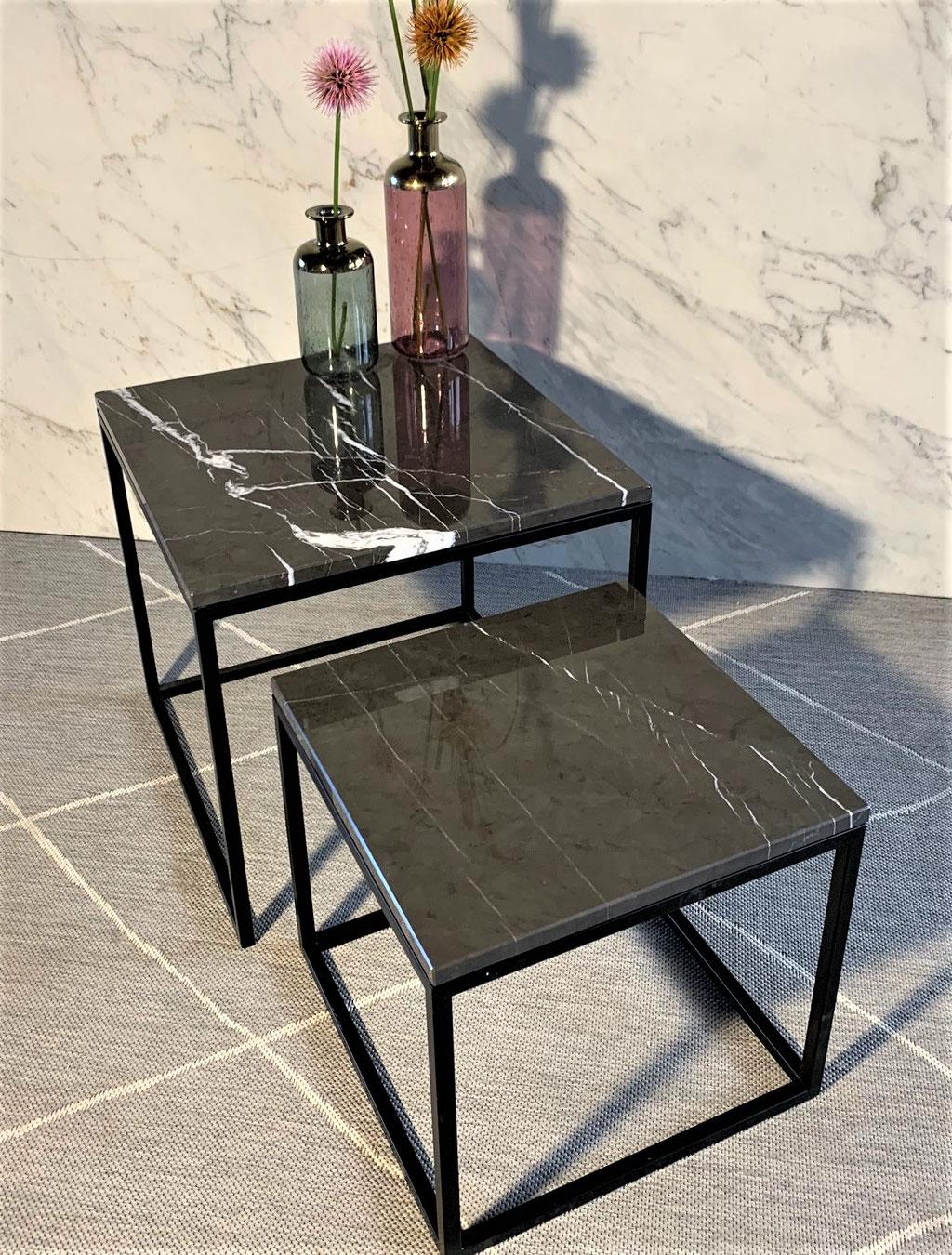 Trendy Grafite marmer met zwart frame