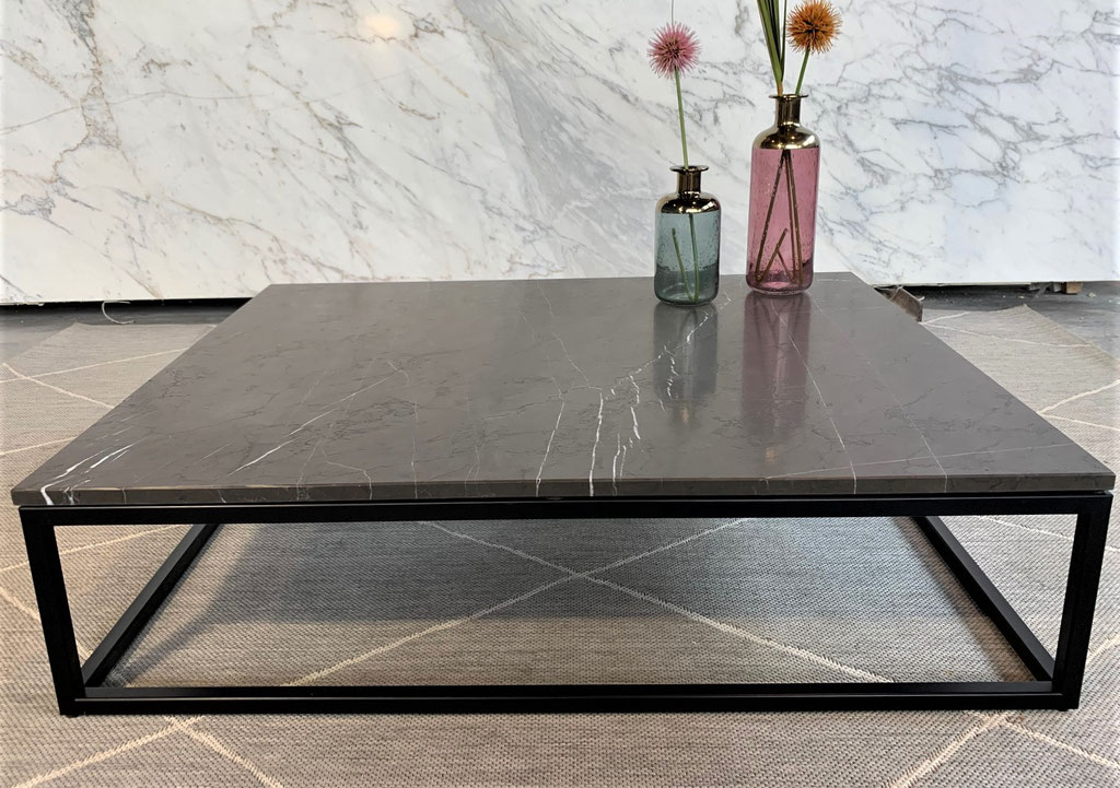 Grafite marble with black steel