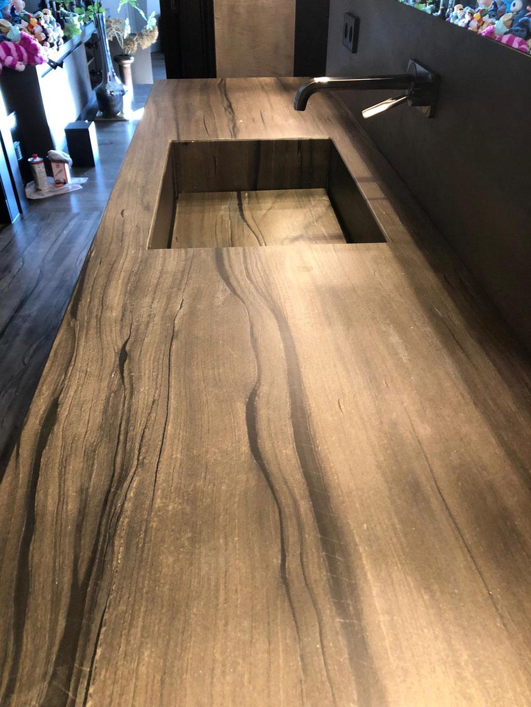 Sequoia Brown customised basin