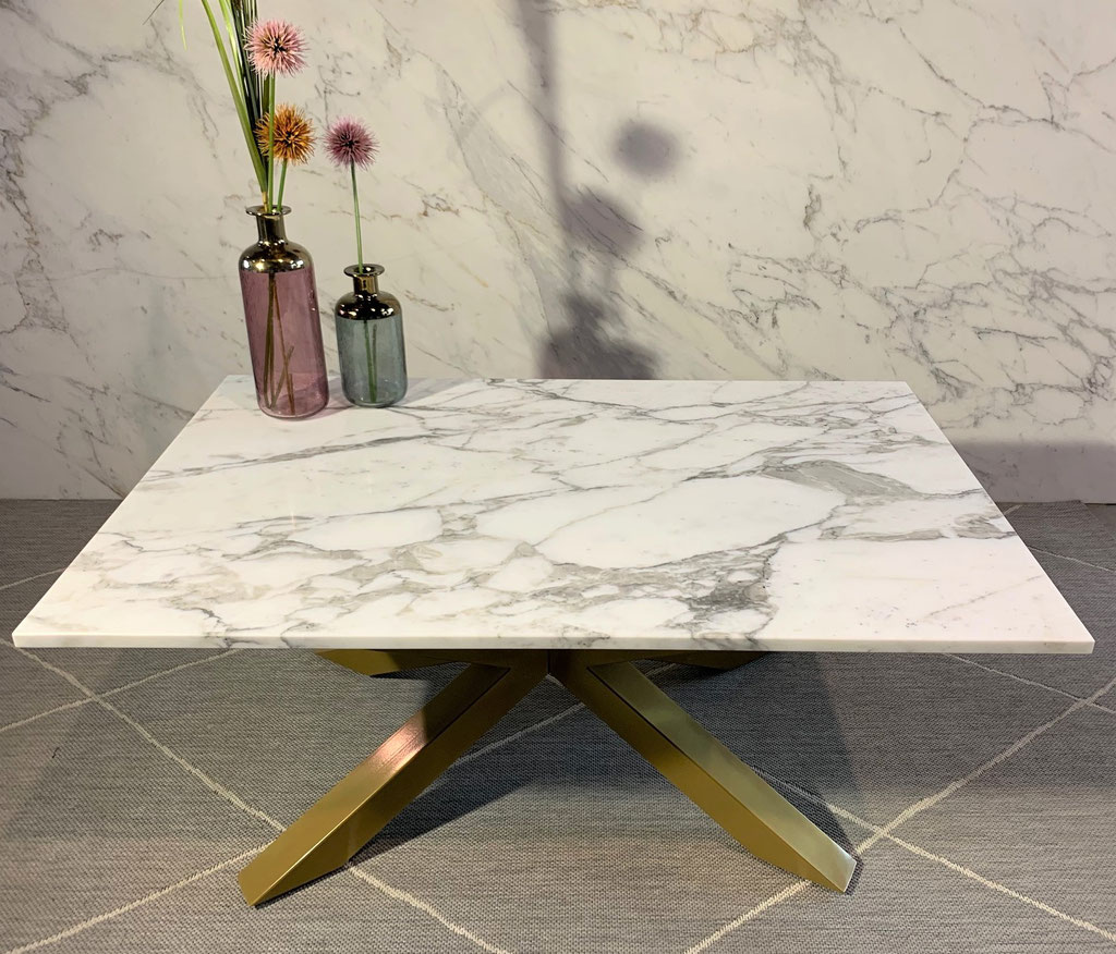Calacatta marble center table