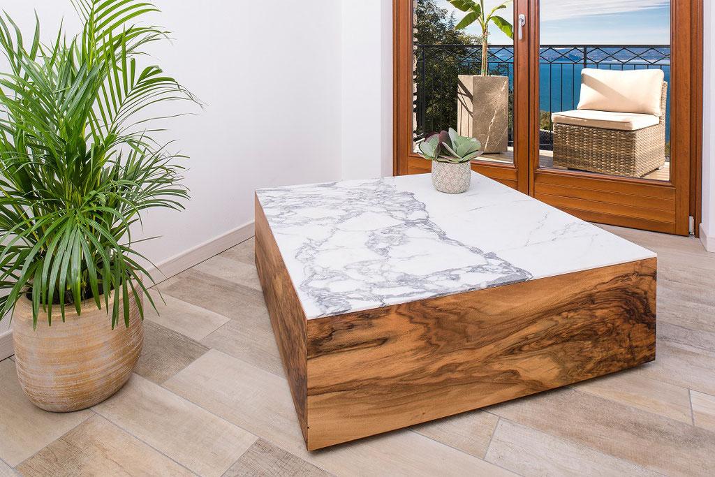 Walnut wood and Italian marble