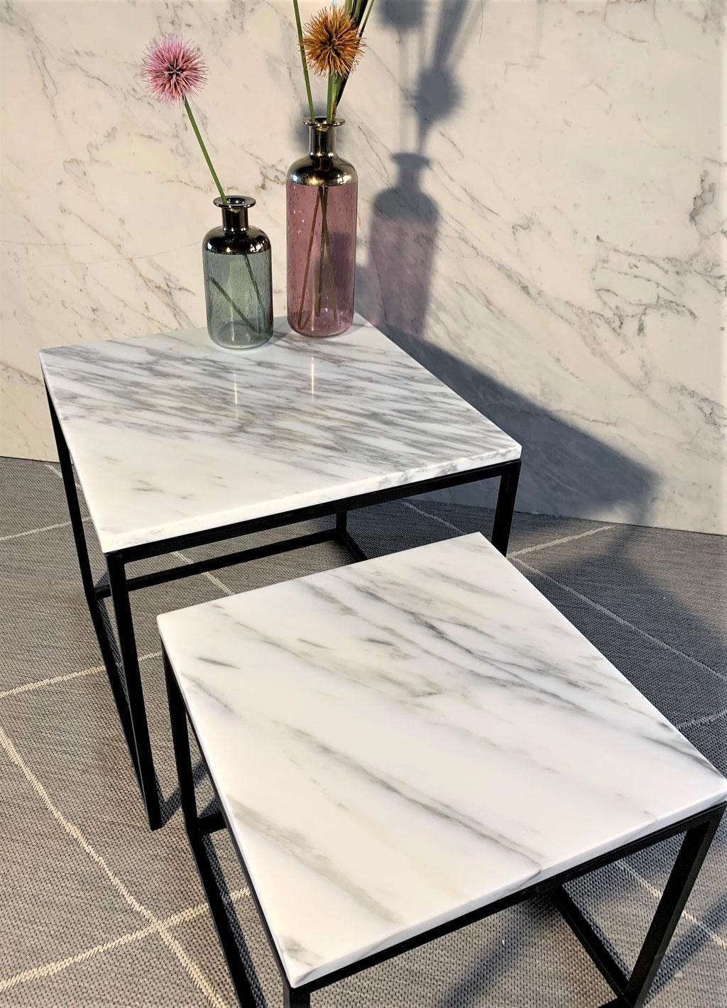Calacatta marble table set